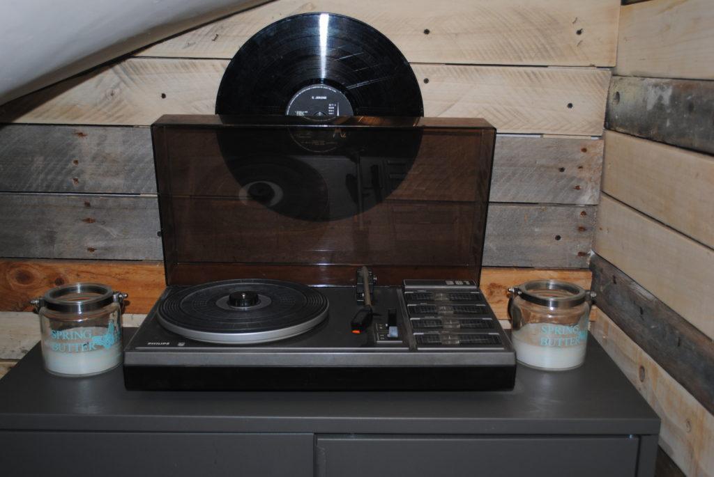 décoration vintage réception mariage tourne disque tours 37