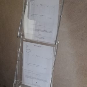 Porte document pliable