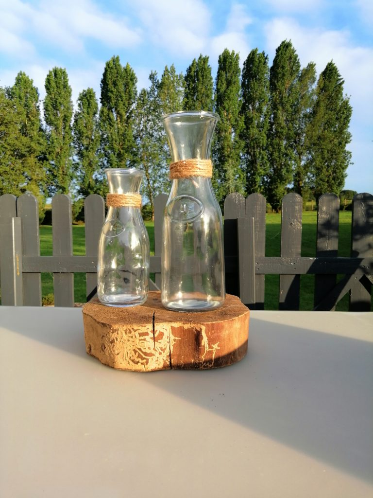 Petit vase carafe centres de table