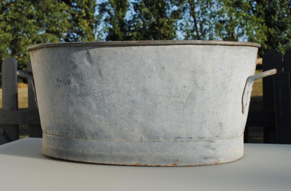 location bassine zinc ovale 37 Tours indre et loire