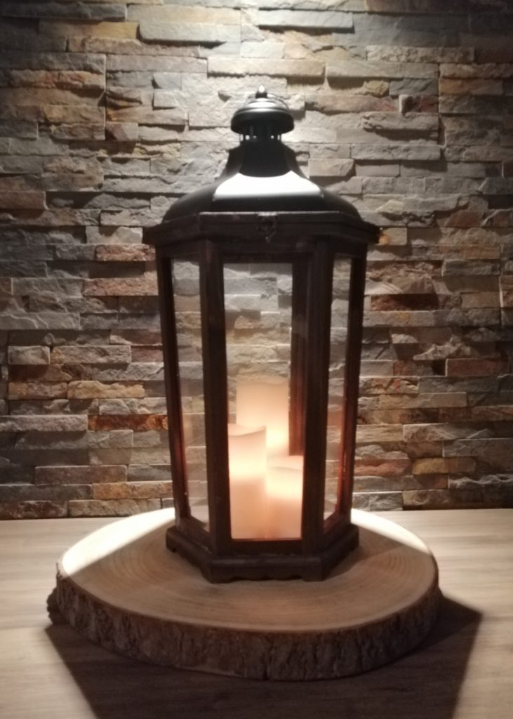 Lanterne médium bois et métal location tours 37 indre et loire