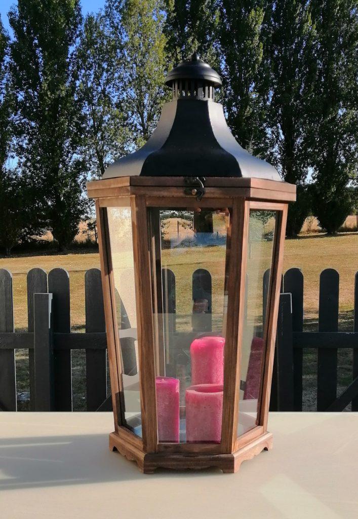 lanterne bois et métal