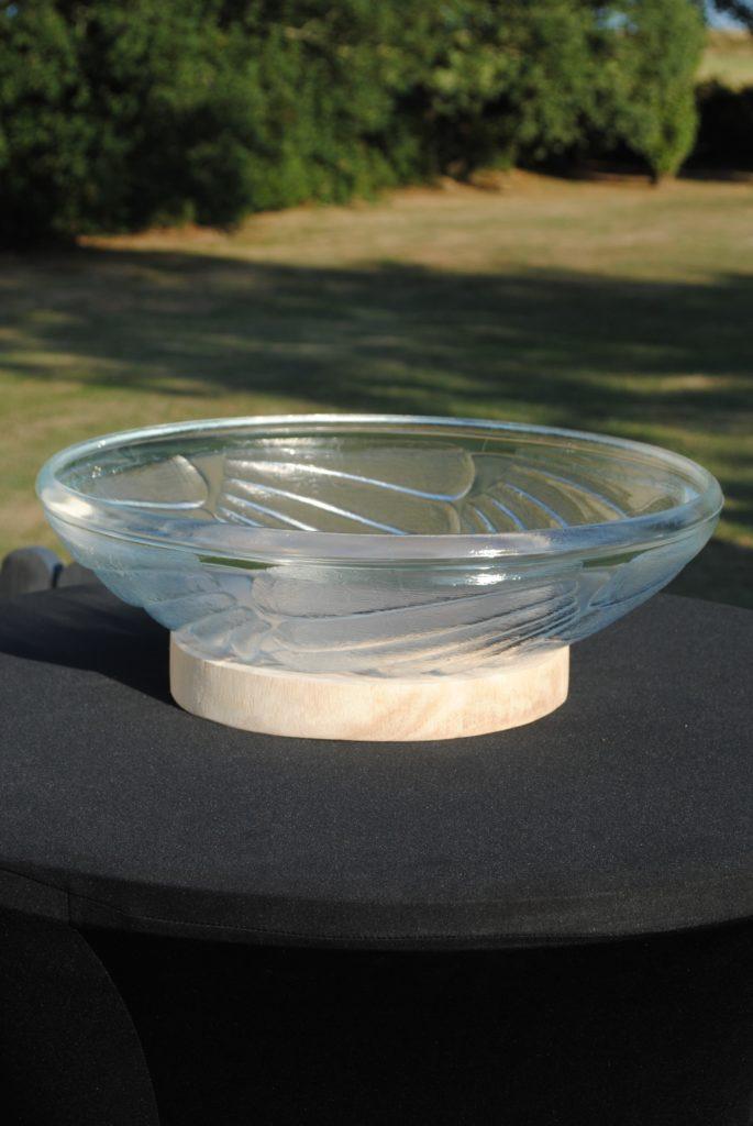 Vasque coupe punch sur support bois location de matériel de réception tours 37 indre et loire