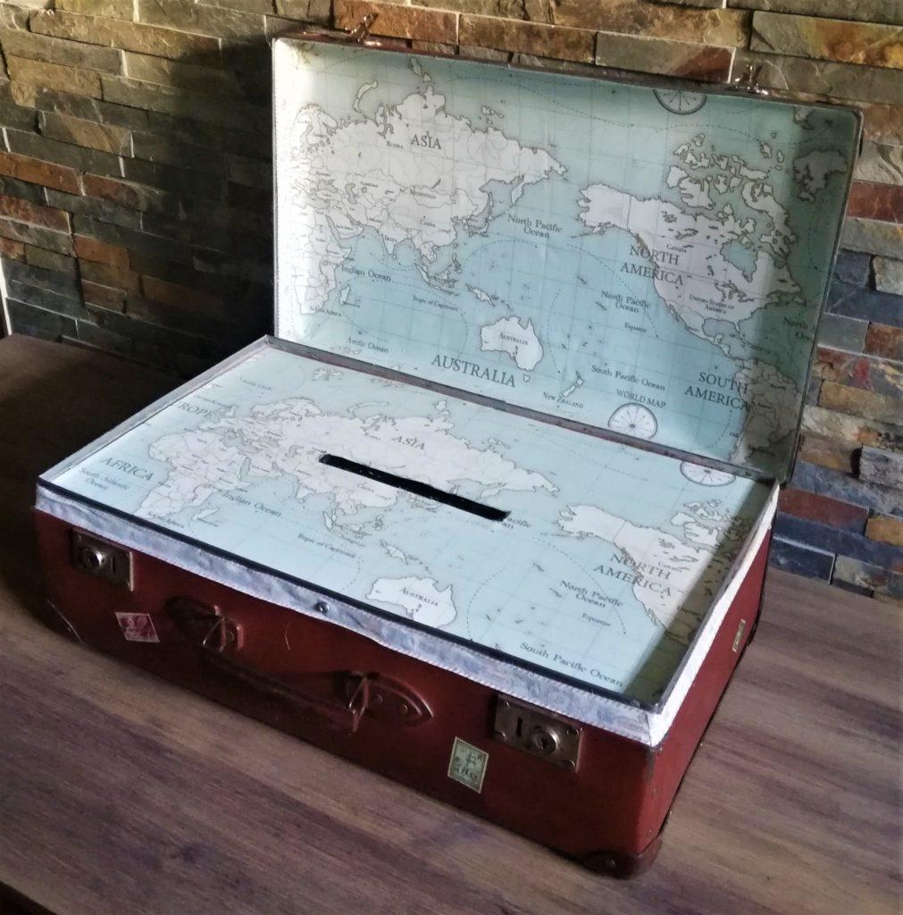 valise urne vintage