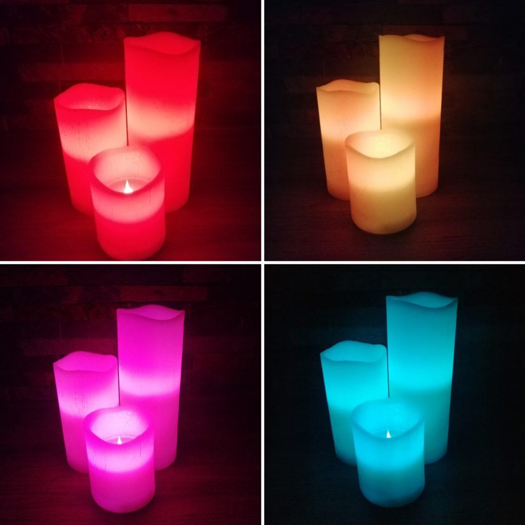 Lot bougies 3 hauteurs cire télécommandées location Tours 37 indre et loire