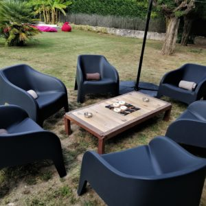 Location fauteuil Gris anthracite salon location matériel de réception Tours 37 indre et loire