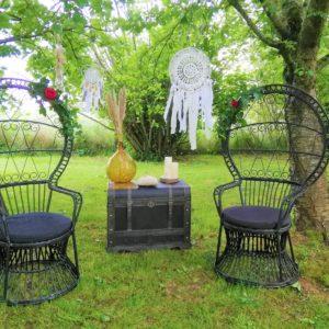 Duo de fauteuils Emmanuelle noir Location Tours 37 indre et loire 41 loir et cher région centre