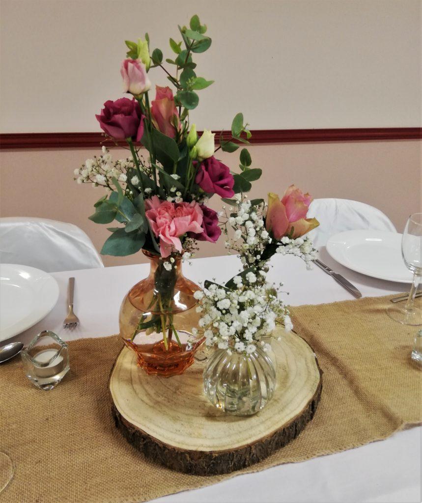 Grand vase rose fiole flacon