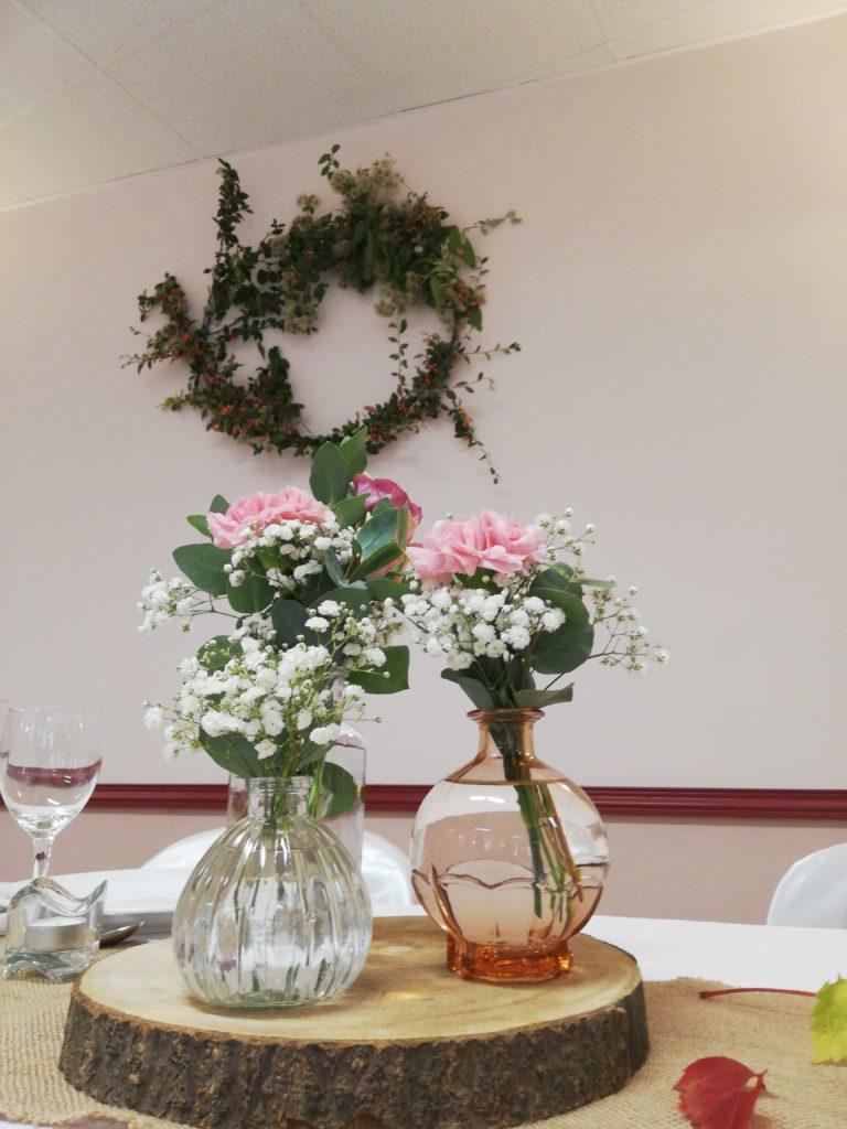 Vase flacon fiole rose vintage Location Tours 37 indre et loire